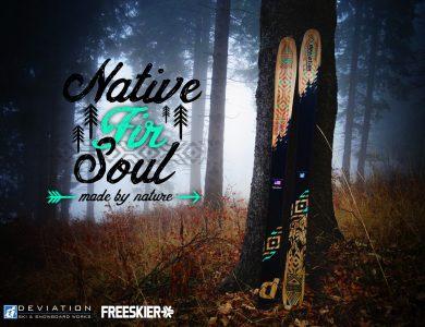 1st @ FREESKIER design ski contest